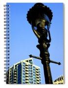 City Lamp Post Spiral Notebook