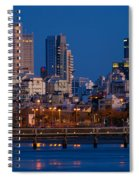 city lights and blue hour at Tel Aviv Spiral Notebook