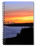 City Lights In The Sunset Spiral Notebook