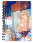 City Lights Urban Abstract Spiral Notebook
