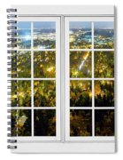City Lights White Window Frame View Spiral Notebook