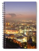 City Lit Up At Night, Esslingen Spiral Notebook