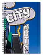 City Motel Las Vegas Spiral Notebook