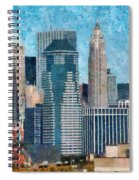 City - Ny - A Touch Of The City Spiral Notebook