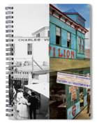 City - Ny - The Bowery 1900 - Side By Side Spiral Notebook