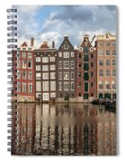 City Of Amsterdam At Sunset In Netherlands Spiral Notebook