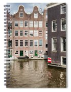 City Of Amsterdam Canal Houses Spiral Notebook