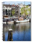 City Of Amsterdam River View Spiral Notebook