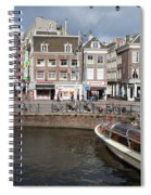 City Of Amsterdam Urban Scenery Spiral Notebook