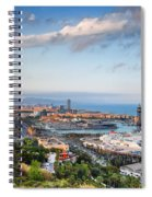 City Of Barcelona From Above At Sunset Spiral Notebook