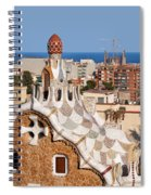 City Of Barcelona From Park Guell Spiral Notebook