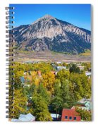 City Of Crested Butte Colorado Panorama   Spiral Notebook