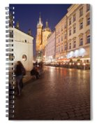 City Of Krakow By Night In Poland Spiral Notebook