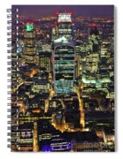 City Of London Skyline At Night Spiral Notebook