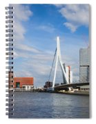City Of Rotterdam Cityscape In Netherlands Spiral Notebook