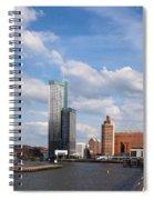 City Of Rotterdam From Erasmus Bridge Spiral Notebook
