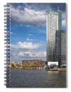 City Of Rotterdam In Netherlands Spiral Notebook