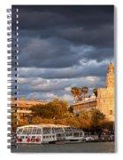 City Of Seville At Sunset Spiral Notebook