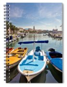 City Of Split Colorful Harbor View Spiral Notebook