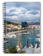 City Of Split Port In Croatia Spiral Notebook