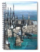 City Of The Future Spiral Notebook