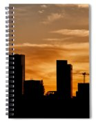 City Of Warsaw Skyline Silhouette Spiral Notebook