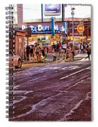 City Scene - Crossing The Street - The Lights Of New York Spiral Notebook