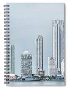 City Skyline, Bocagrande, Cartagena Spiral Notebook