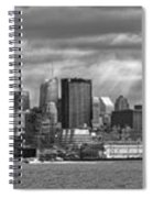 City - Skyline - Hoboken Nj - The Ever Changing Skyline - Bw Spiral Notebook