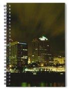 City Skyline With Milwaukee Art Museum Spiral Notebook