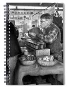 City - South Street Seaport - New Amsterdam Market - Apples And Mustard Spiral Notebook
