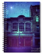 City Street At Night Spiral Notebook