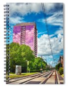 City Streets Of Charlotte North Carolina Spiral Notebook