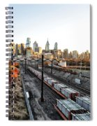 City Up The Tracks Spiral Notebook