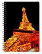 City - Vegas - Paris - Eiffel Tower Restaurant Spiral Notebook