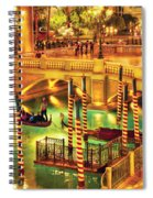 City - Vegas - Venetian - The Venetian At Night Spiral Notebook