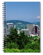 City With Mt. Hood In The Background Spiral Notebook