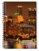 Cityscape Of Color Spiral Notebook