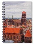 Cityscape Of Gdansk Spiral Notebook