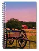Civil War Caisson At Gettysburg Spiral Notebook