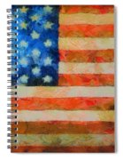 Civil War Flag Spiral Notebook