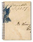 Civil War Letter 25 Spiral Notebook