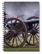 Civil War Reenactor Firing A Revolver Spiral Notebook
