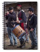 Civil War Reenactors With Drum And Fife Spiral Notebook