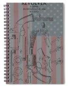 Civil War Revolver American Flag Spiral Notebook