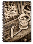 Civil War Shaving Mug And Razor Black And White Spiral Notebook