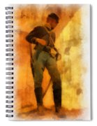 Civil War Soldier Photo Art Spiral Notebook