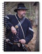 Civil War Union Soldier Reenactor Loading Musket Spiral Notebook