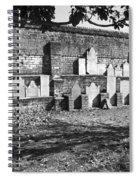 Civil War Wall Of Tombstones Savannah Georgia Spiral Notebook