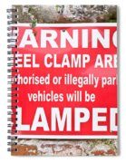 Clamping Sign Spiral Notebook